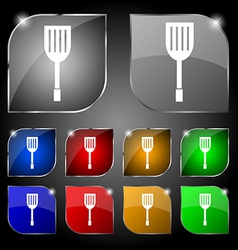 Kitchen appliances icon sign Set of ten colorful vector image