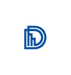 letter d icon alphabet symbol vector image
