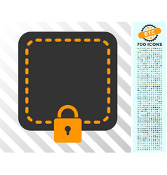 Locked wallet flat icon with bonus vector