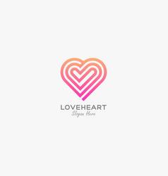 Logo love heart gradient colorful vector