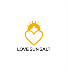 love sun salt logo vector image