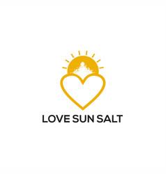 love sun salt logo vector image