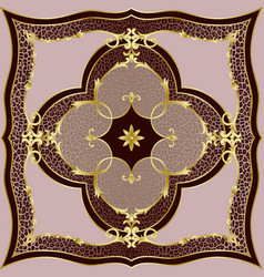 Luxury pink leopard and gold classic pattern vector