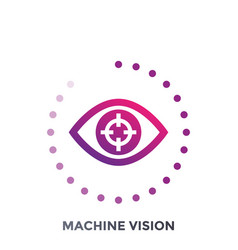 machine vision icon vector image