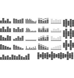 Music equalizer set vector image