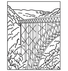 New river gorge national park and preserve vector