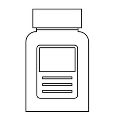 pill bottle icon outline style vector image