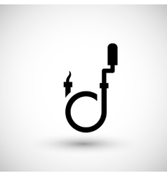Plumber snake icon vector image