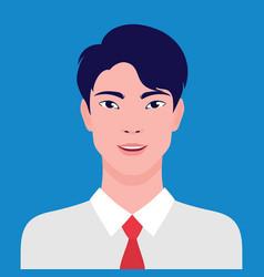 Portrait an asian businessman smiling vector
