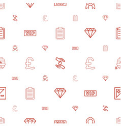 Quality icons pattern seamless white background vector