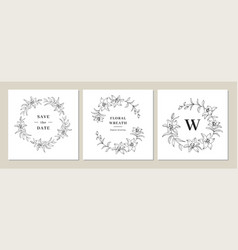 Save date cards invitation cards wedding vector