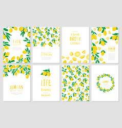 Set banners lemon vector