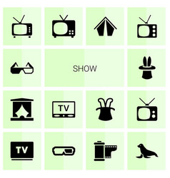 show icons vector image