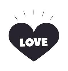 slang bubbles love phrase heart over white vector image