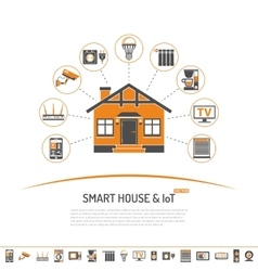 Smart House and internet of things concept vector
