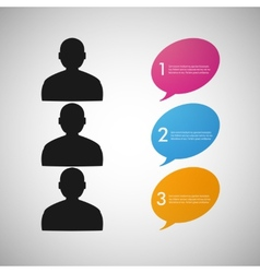 speech dialog people eps vector image