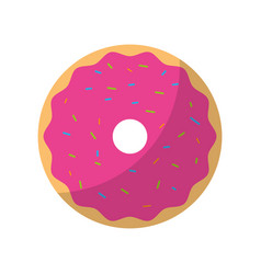 sweet and delicious donut vector image