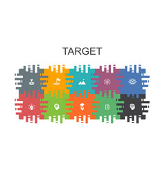 Target cartoon template with flat elements vector