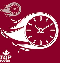 Timer with burning flame includes invert version vector