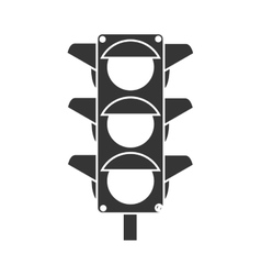 Traffic lights semaphore icon vector