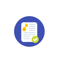 Urine test flat icon vector