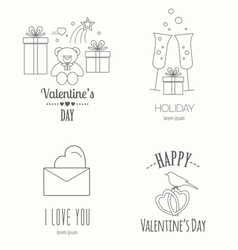 Valentines day logo design template Graphic vector image