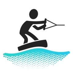 Wake boarding icon vector