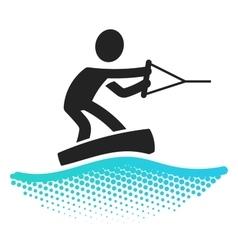 Wake boarding icon vector