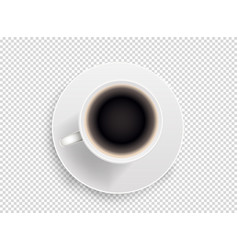 white coffee cup object isolated on transparent vector image