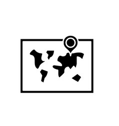 world map black icon sign on isolated vector image