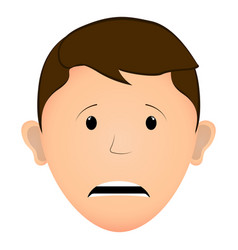worried man avatar vector image