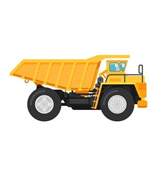 Yellow mining dump truck tipper vector