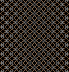 Checkered black seamless pattern with rhombus and vector image vector image