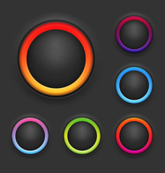 Glowing Button Template Set vector image vector image