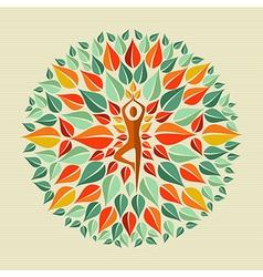 India yoga mandala vector
