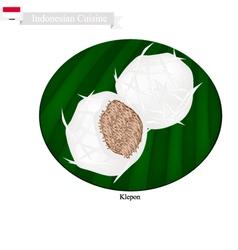 Klepon or Indonesian Sweet Pandanus Rice Cake vector image