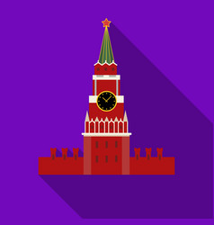 kremlin icon in flat style isolated on white vector image vector image