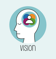 profile human head vision people vector image