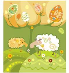 sheep illustration vector image vector image