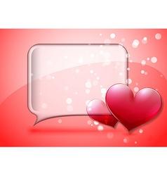 Valentine speech bubble card vector image vector image