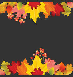 colorful card banner with autumn leaves vector image vector image