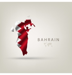 Flag of BAHRAIN as a country with a shadow vector image