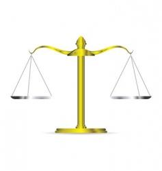 golden scales vector image