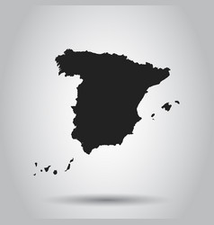 spain map black icon on white background vector image