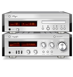 Music Stereo Audio CD Player with Amplifier vector image vector image
