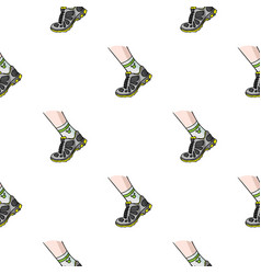 sneakers icon in cartoon style isolated on white vector image vector image