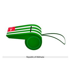 White and Green Stripe on Abkhazia Whistle vector image