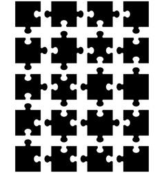 black puzzle vector image vector image
