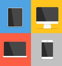 Different modern personal gadgets vector image vector image
