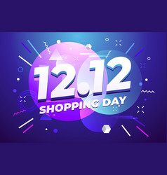 1212 shopping day sale poster or flyer design vector image
